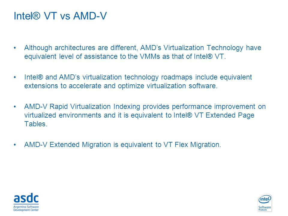 Intel® VT vs AMD-V