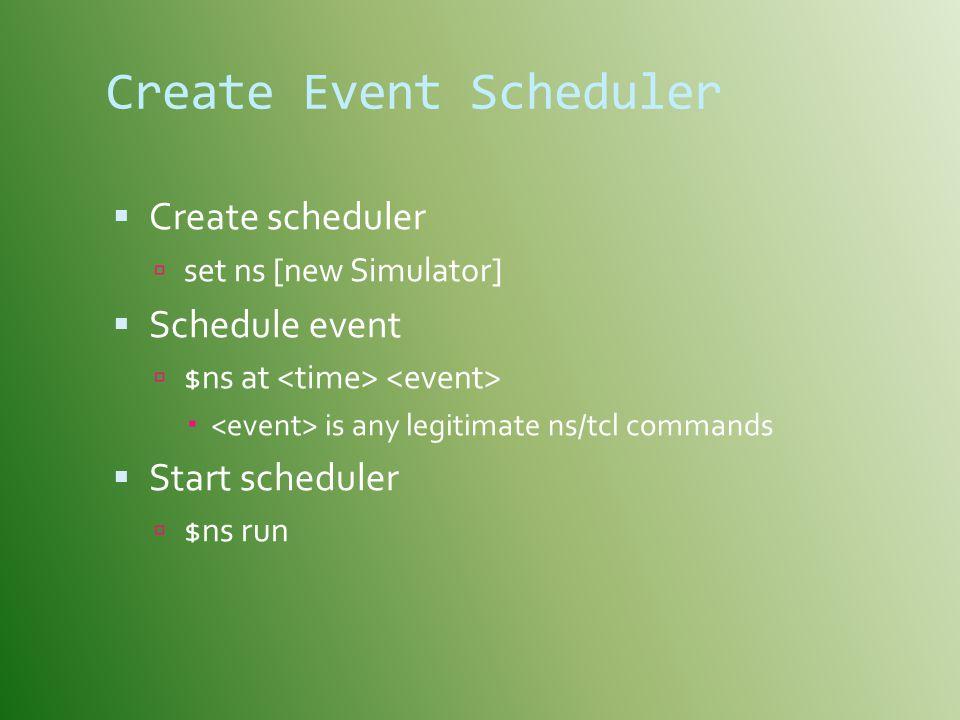 Create Event Scheduler