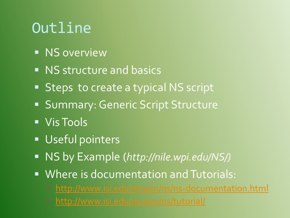 Outline NS overview NS structure and basics
