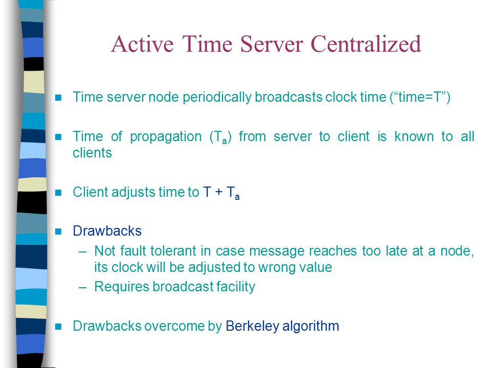 Active Time Server Centralized