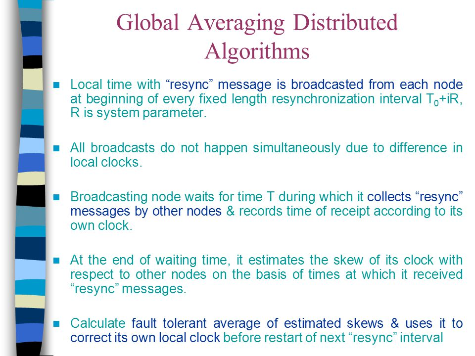Global Averaging Distributed Algorithms