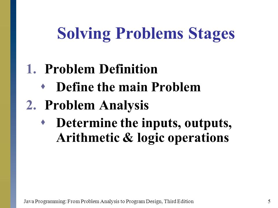 Solving Problems Stages