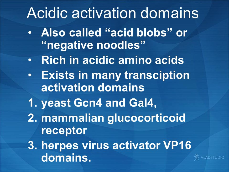 Acidic activation domains