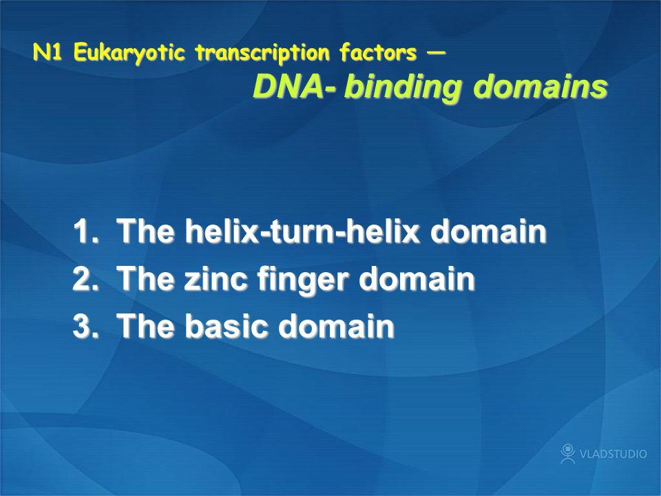 N1 Eukaryotic transcription factors — DNA- binding domains