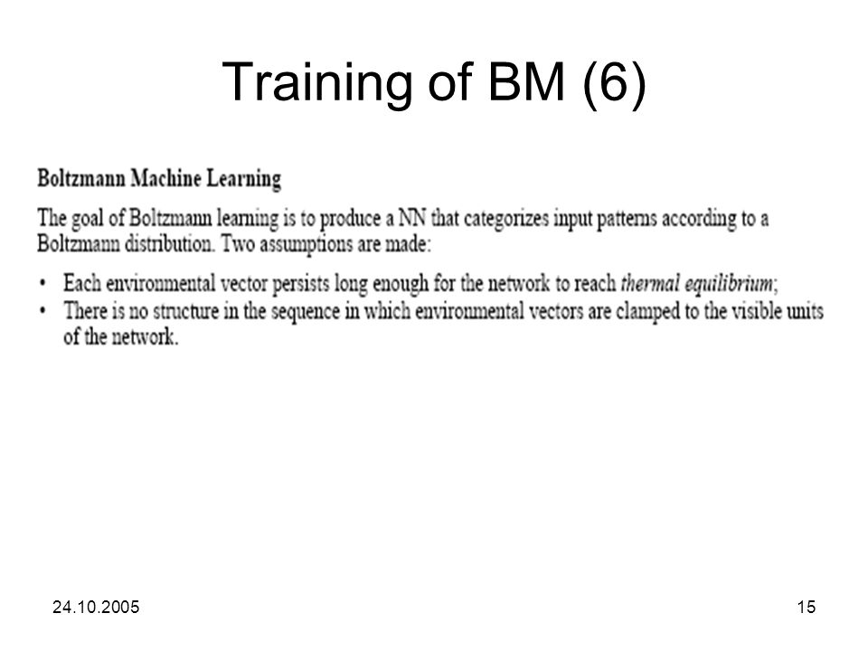 Training of BM (6) 24.10.2005