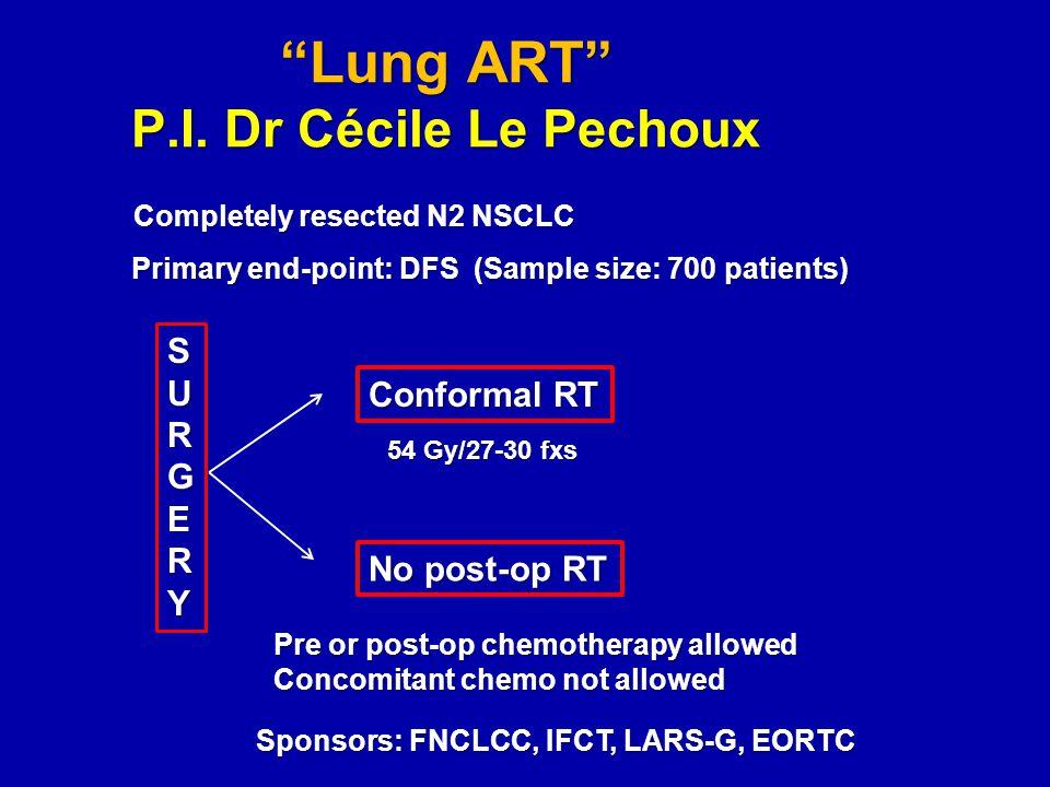 Lung ART P.I. Dr Cécile Le Pechoux