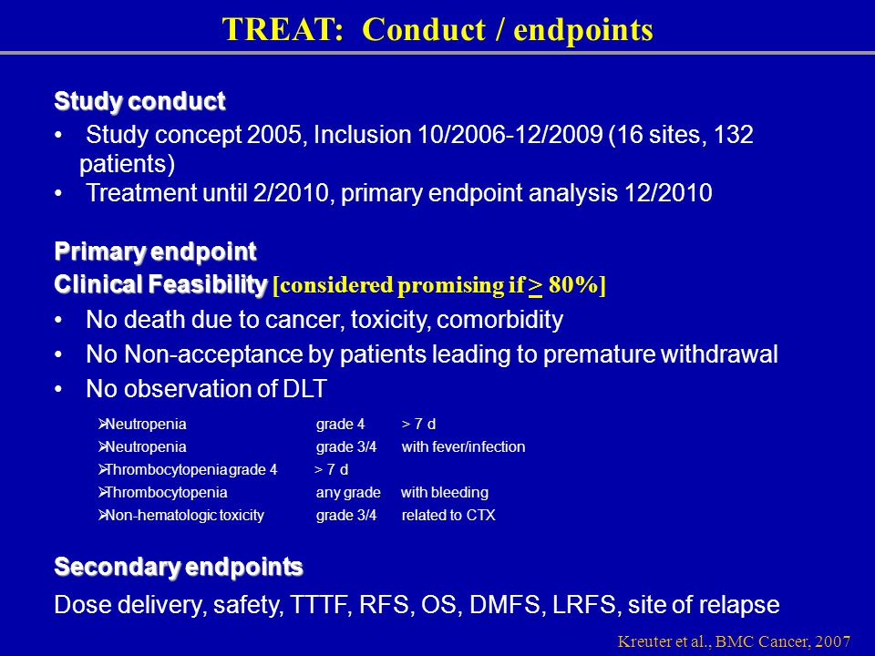 TREAT: Conduct / endpoints