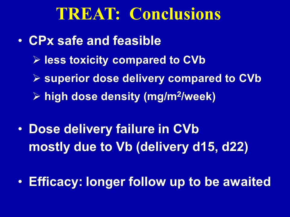 TREAT: Conclusions CPx safe and feasible