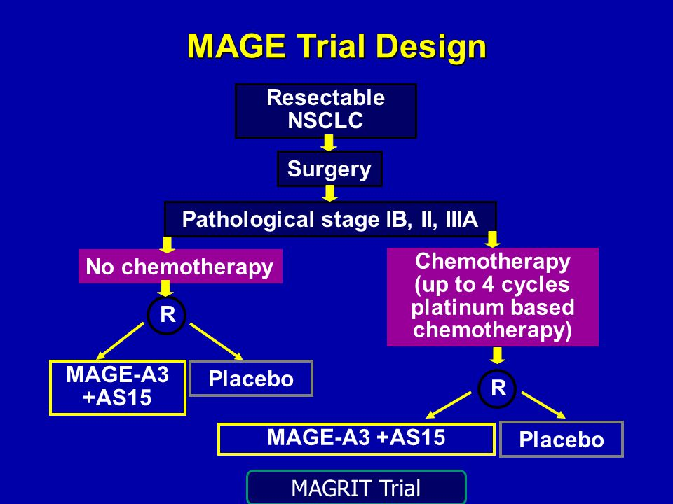 Pathological stage IB, II, IIIA platinum based chemotherapy)