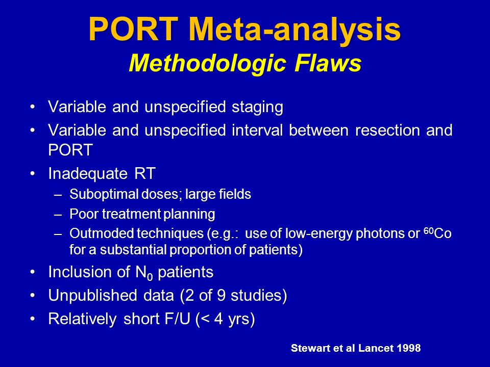 PORT Meta-analysis Methodologic Flaws