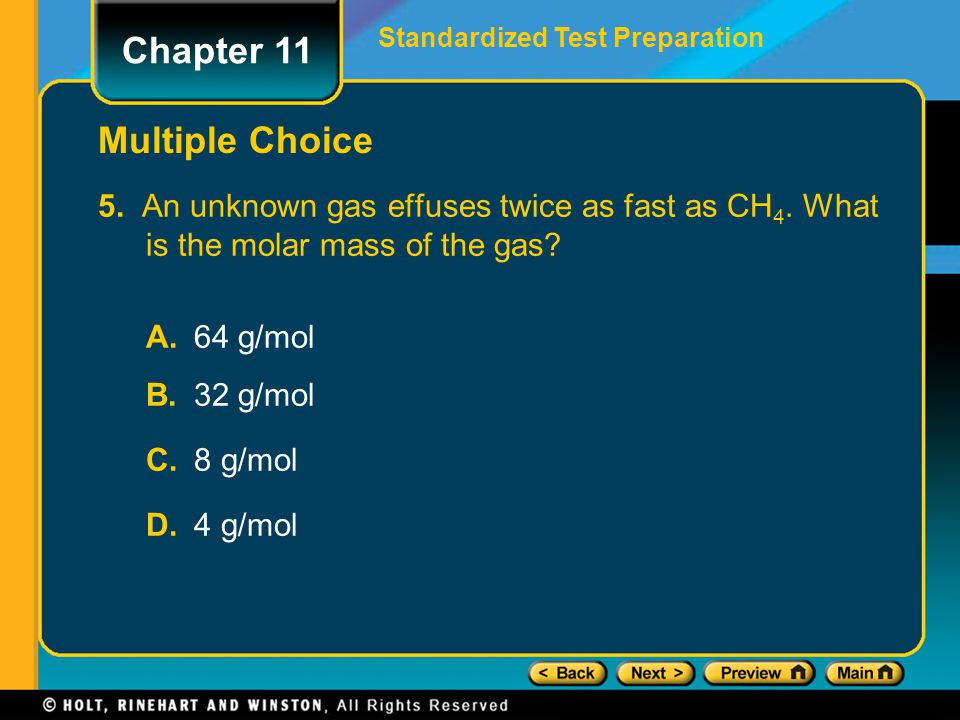 Chapter 11 Multiple Choice