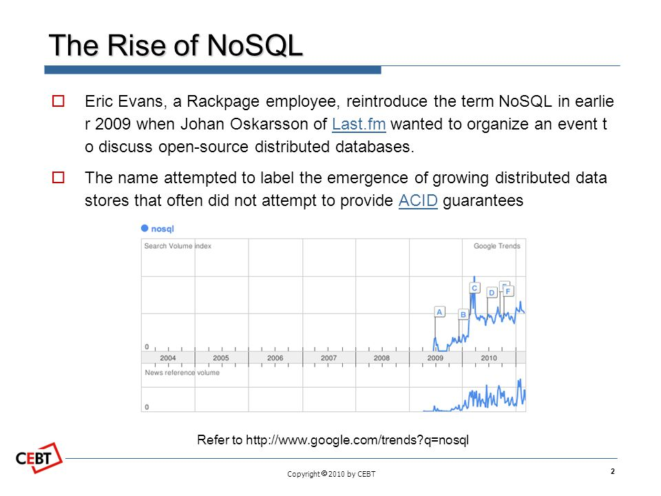 The Rise of NoSQL