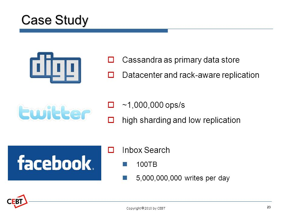 Case Study Cassandra as primary data store