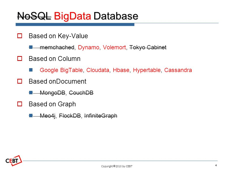 NoSQL BigData Database