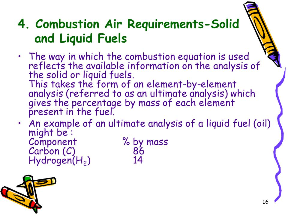 4. Combustion Air Requirements-Solid and Liquid Fuels