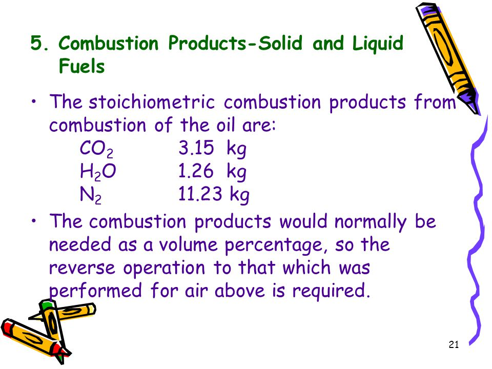5. Combustion Products-Solid and Liquid Fuels