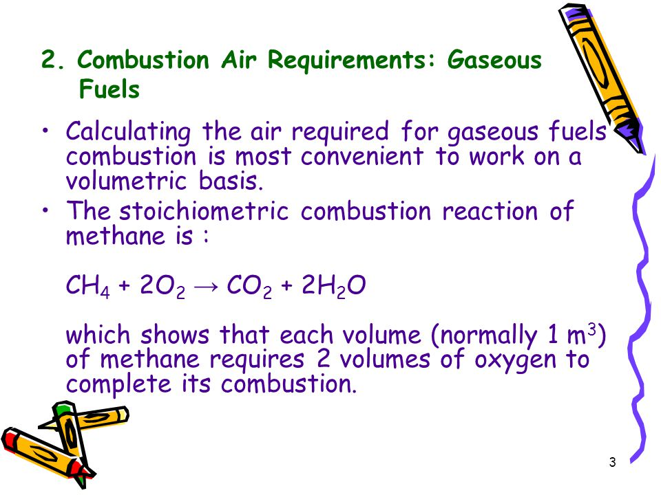 2. Combustion Air Requirements: Gaseous Fuels