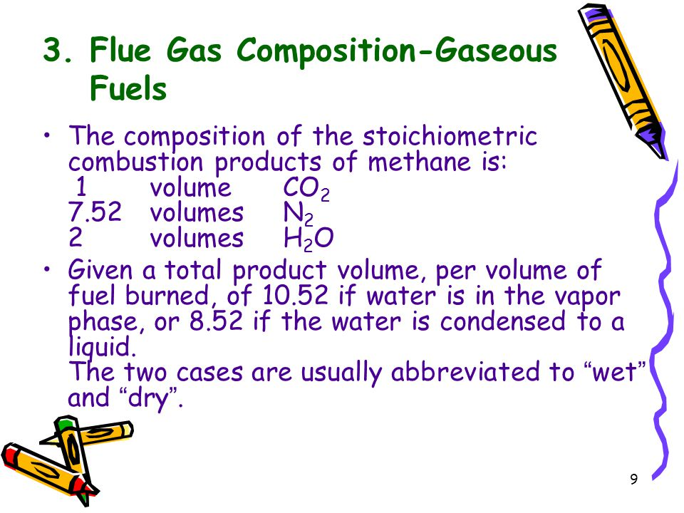 3. Flue Gas Composition-Gaseous Fuels