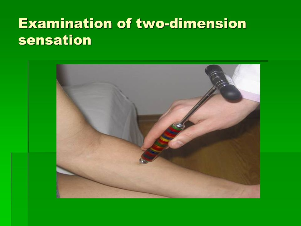 Examination of two-dimension sensation