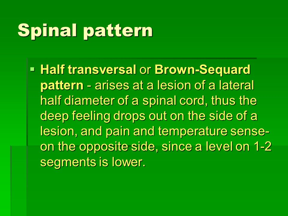 Spinal pattern