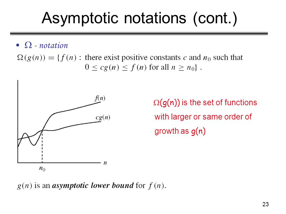 Asymptotic notations (cont.)