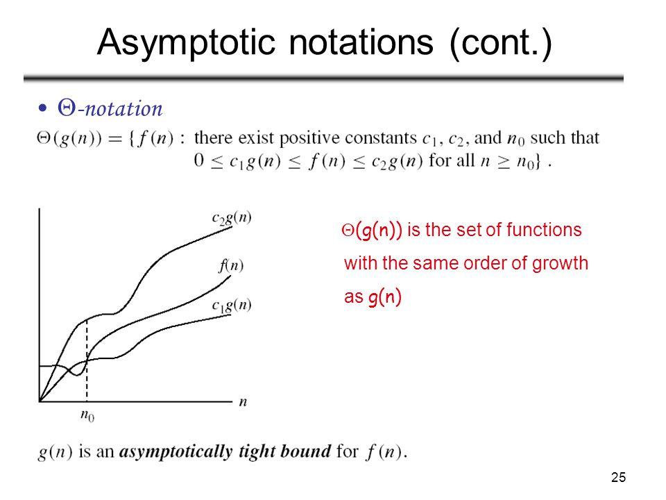 Asymptotic notations (cont.)