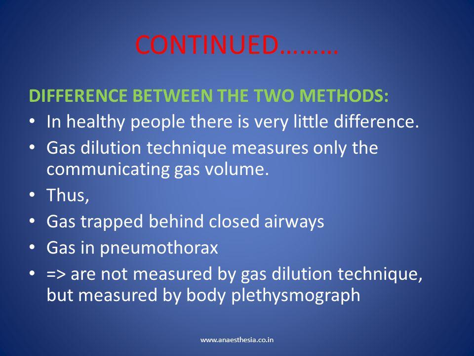 CONTINUED……… DIFFERENCE BETWEEN THE TWO METHODS: