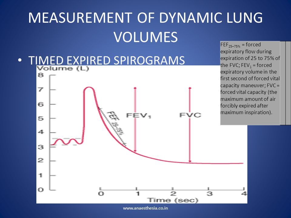 MEASUREMENT OF DYNAMIC LUNG VOLUMES