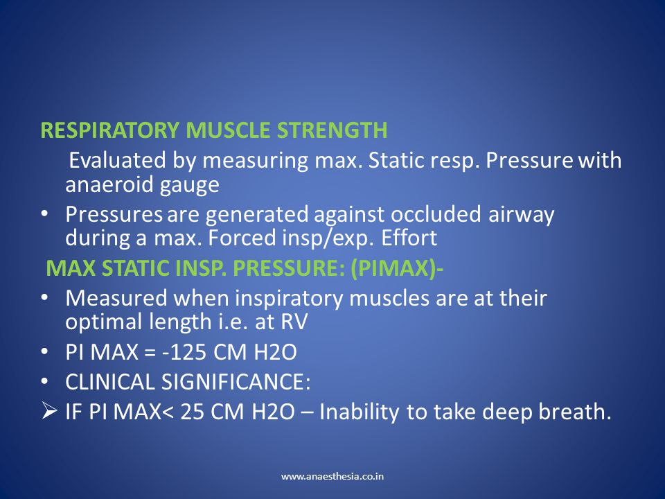 RESPIRATORY MUSCLE STRENGTH