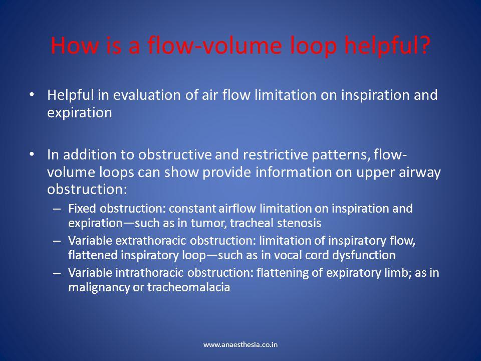 How is a flow-volume loop helpful