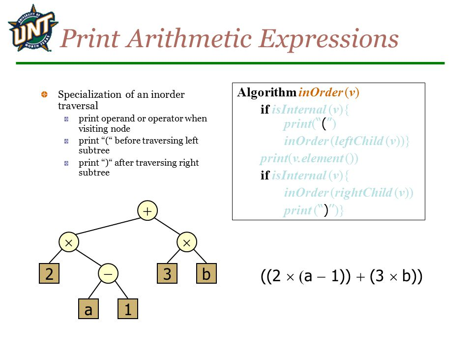 Print Arithmetic Expressions