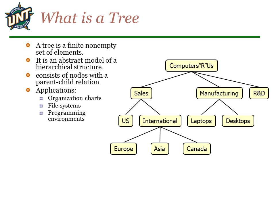 What is a Tree A tree is a finite nonempty set of elements.