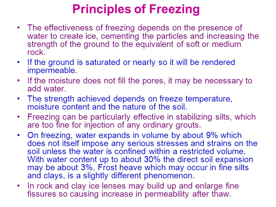Principles of Freezing