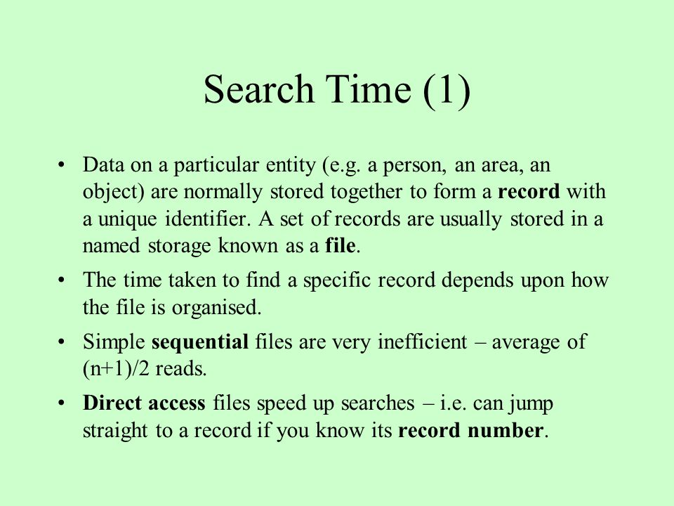 Search Time (1)