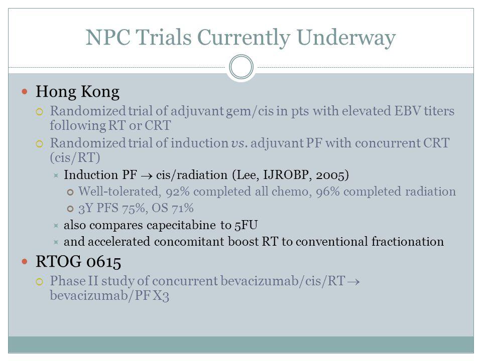 NPC Trials Currently Underway