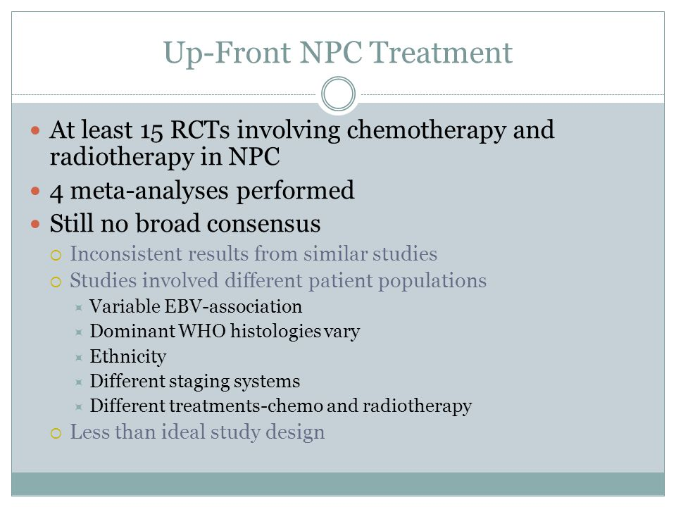 Up-Front NPC Treatment