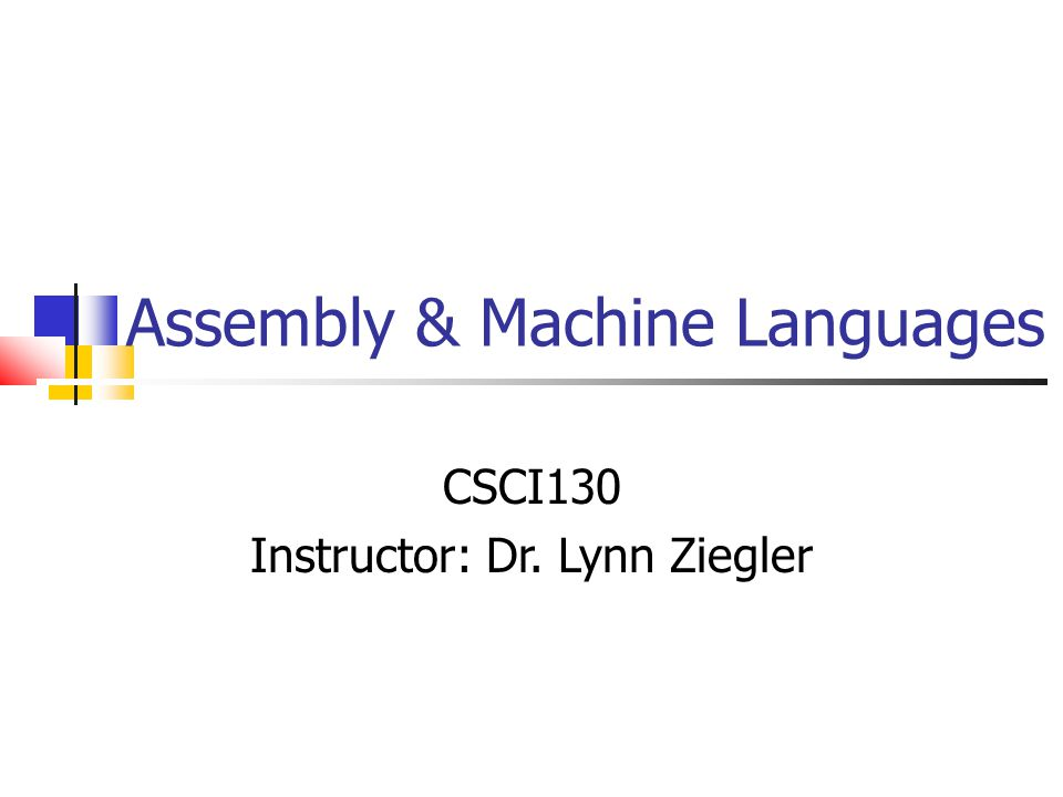 Instructor: Dr. Lynn Ziegler