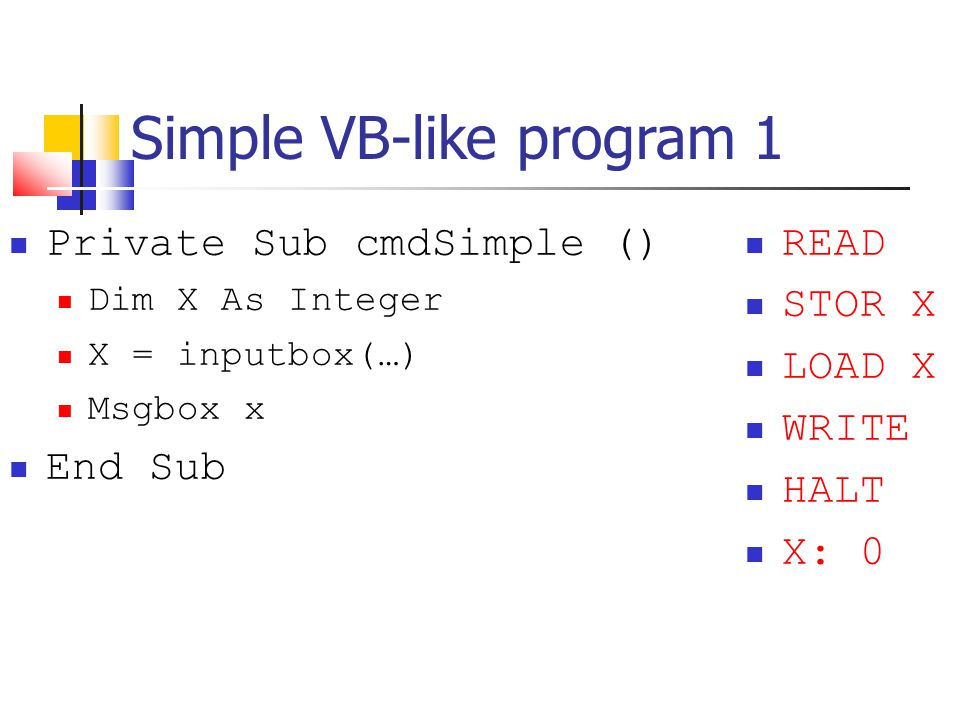 Simple VB-like program 1