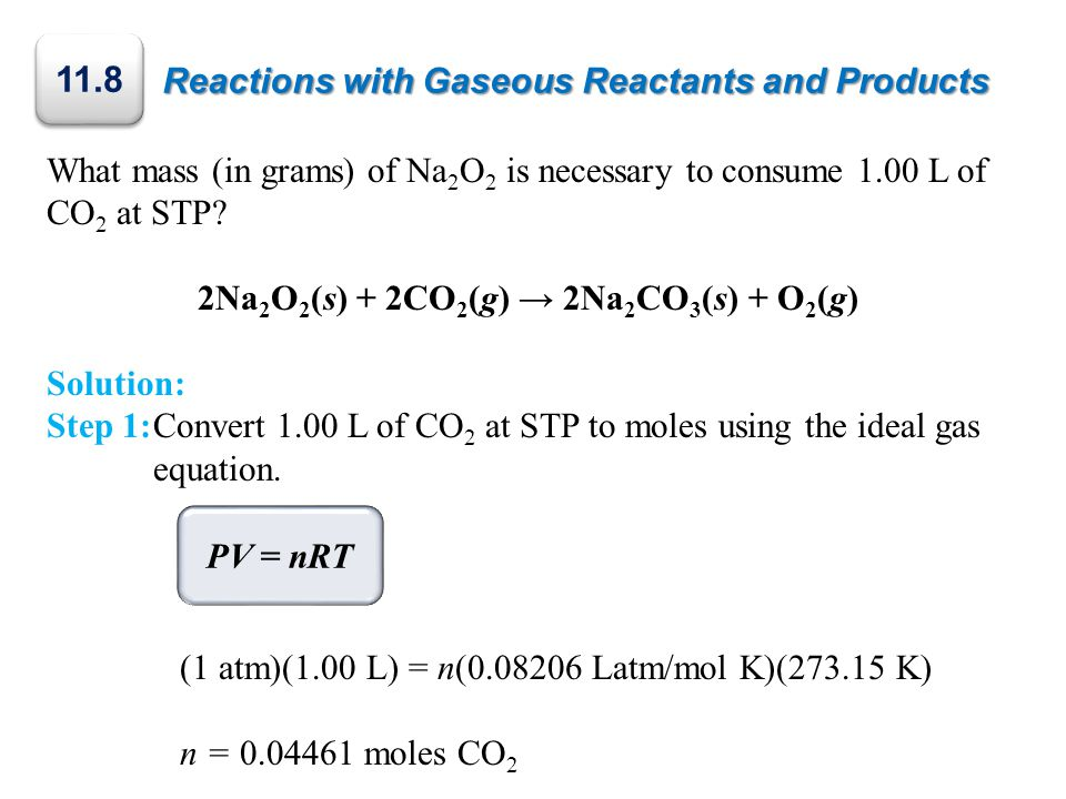Reactions with Gaseous Reactants and Products