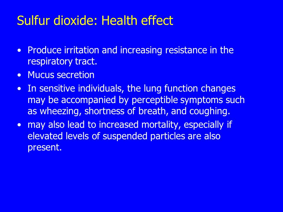 Sulfur dioxide: Health effect