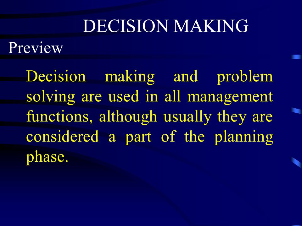 DECISION MAKING Preview