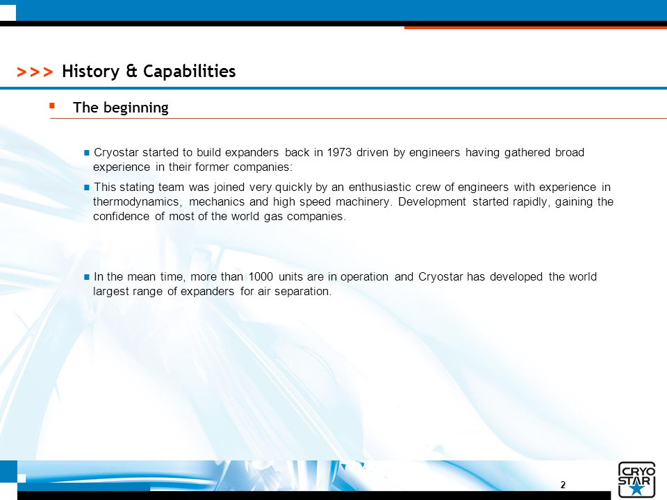 History & Capabilities