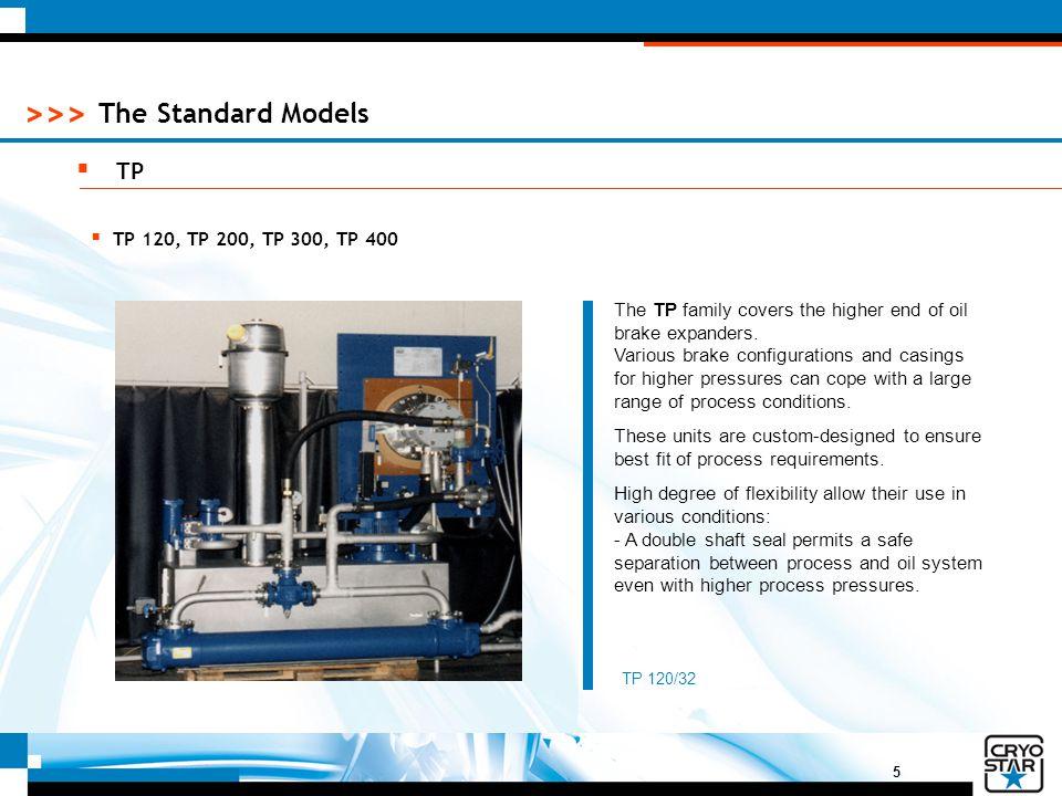 The Standard Models TP TP 120, TP 200, TP 300, TP 400