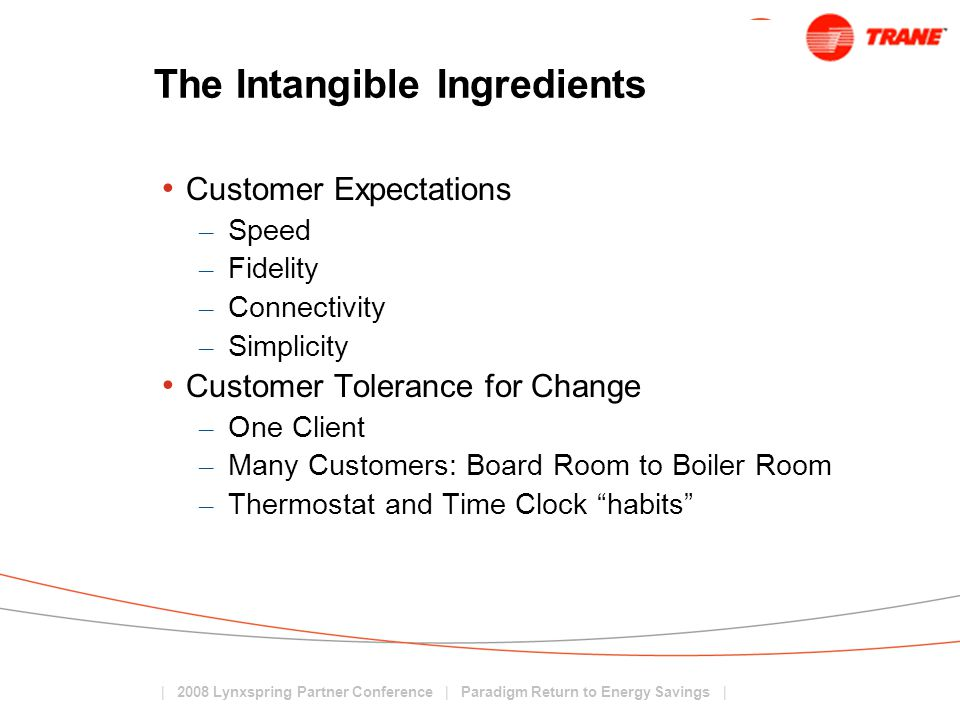 The Intangible Ingredients