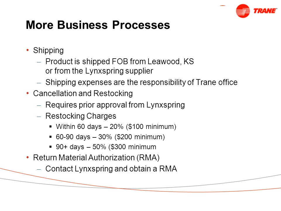 More Business Processes