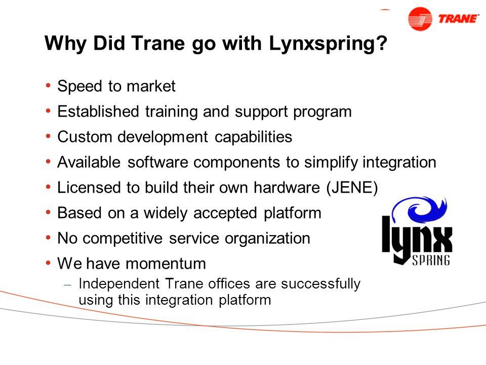 Why Did Trane go with Lynxspring