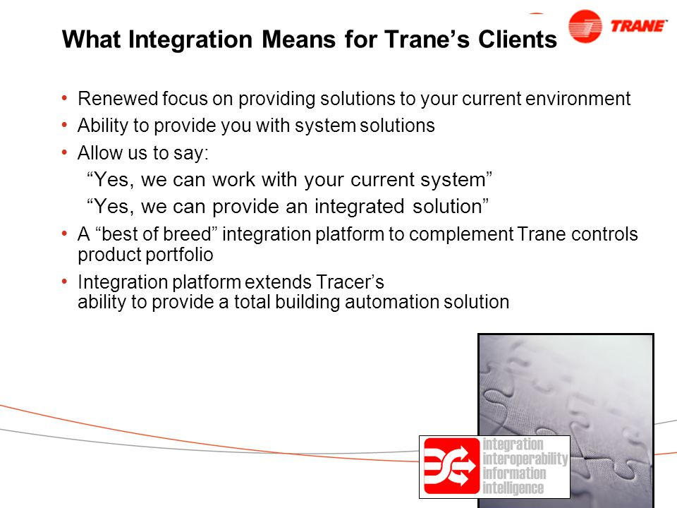 What Integration Means for Trane's Clients