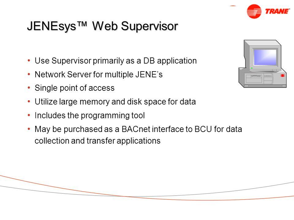 JENEsys™ Web Supervisor