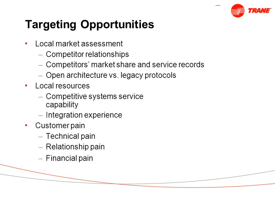 Targeting Opportunities