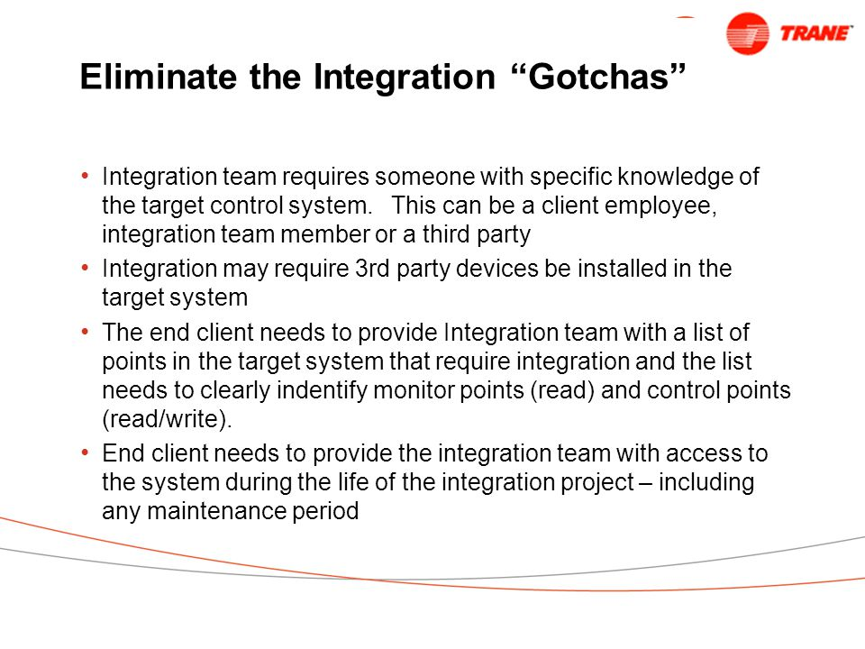 Eliminate the Integration Gotchas